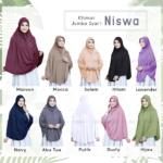 Jilbab Instan / Khimar Jumbo Syar'i Niswa with pad jersey