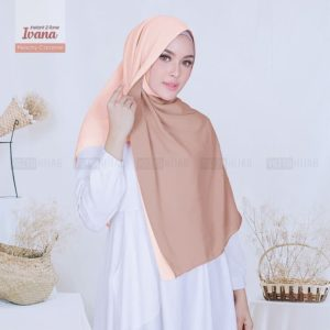 Jilbab Instan / jilbab pashmina Hijab Instant 2-Tone Ivana ceruti