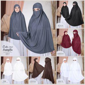 Jilbab Instan / Khimar Cadar 2in1 Assyifa jersey